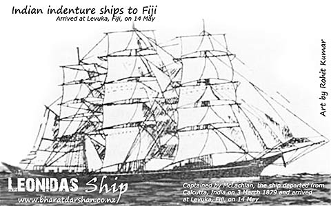 Leonidas Ship arrived in Fiji on 15 May 1879