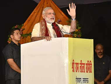 PM Modi Addressing Ramleela mahotsav in Lucknow
